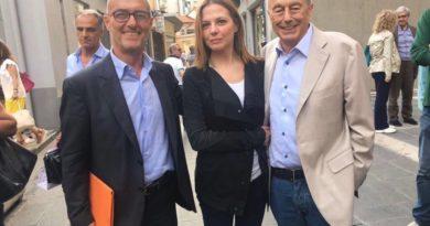 Beppino Englaro e M. Antonietta Farina Coscioni alla Spezia per Manfredini